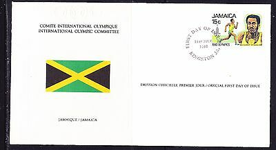 Jamaica 1980 - Olympic Committee EMBOSSED First Day Cover
