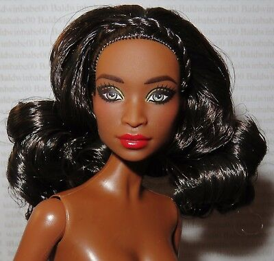 (B) Nude Barbie (B)~ Raven Aa Lavinia Face 2017 Holiday Model Muse Doll For Ooak