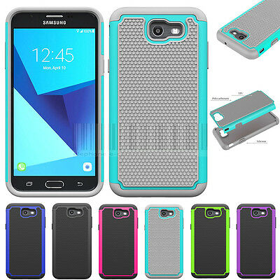 Shockproof Armor Case Hybrid Hard Phone Cover Fr Samsung Galaxy J7 V 2017 / Perx