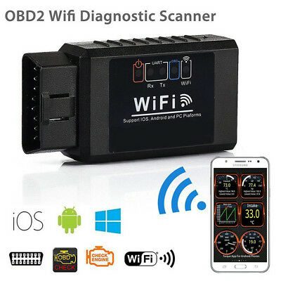 Auto Car ELM327 WIFI OBD2 OBDII Diagnostic Scanner Scan Tool for iOS Android NEW