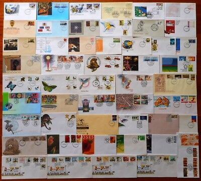 Australian First Day Covers - A Selection of 50 x Different Covers