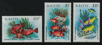 St Kitts 147A,151A,152A MNH Fish, Marine Life