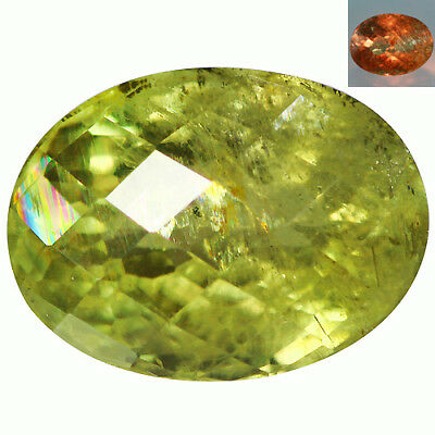 10.84Ct Superb Oval Cut 15 x 11 mm AAA Color Change Turkish Diaspore