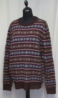 1940S /ww11 / Wartime Style Vermont Fairisle Howick Mans Jumper   46 In Chest