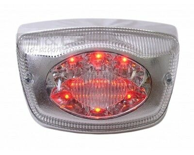 LED Rear Light In Chrome - e-certified - PIAGGIO VESPA LX 50 2T 4T - LX 125 150
