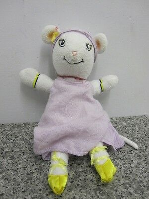 """Angelina Ballerina Ms Lilly 9"""" Soft Toy White Mouse Ballet Vhtf"""