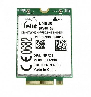 Dell Wireless DW5810e Dell 7140/7350 Telit LN930 WWAN 4G/LTE/DC-HSPA+ Card NRR39