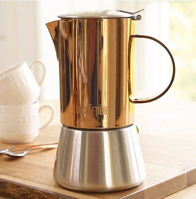 La Cafetiere 4 Cup COPPER STOVE TOP 200ml ESPRESSO Coffee Maker