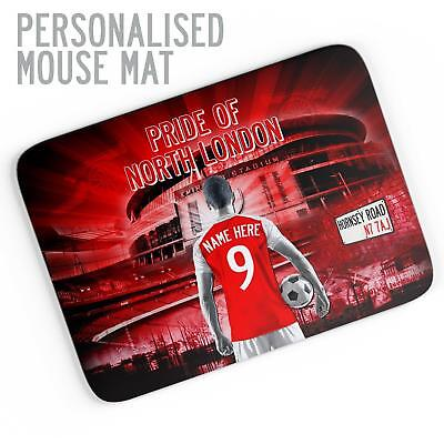 Arsenal Football Gaming Mouse Mat Pad Work *Unofficial* Personalised Gift AF07
