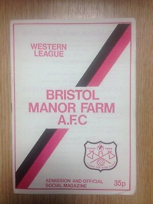 1979/1980 Bristol Manor Farm v Yeovil Town Reserves - Western League Division 1