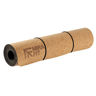 Mirafit 6mm Non Slip Natural Cork Yoga/Pilates/Ab Exercise Floor Mat Gym Workout