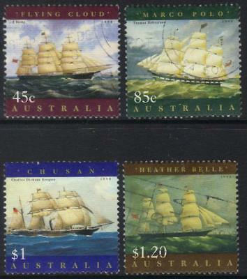 Australia 1998 Ship Paintings Used Set Of 4