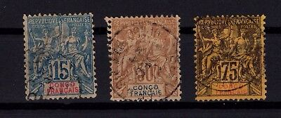 P42584/ French Congo – Maury # 17 – 20 – 23 Obl / Used 105 €