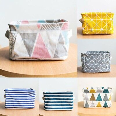 6-Colors Foldable Storage Bin Closet Toy Box Container Organizer Fabric Basket