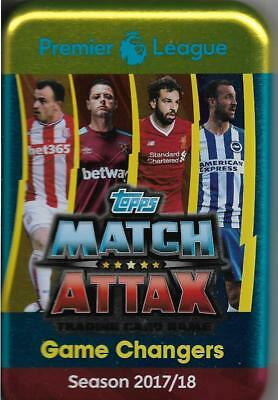 Match Attax 2017/18 Mega Tin And 100 Cards All Diff Including Limited Edition