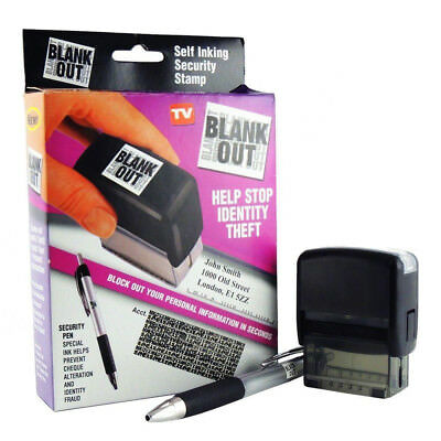 Self Inking ID Protection Stamp (Security Identity Theft Protection Blocker)