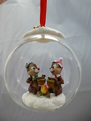 NEW - Disney Store - Christmas Hanging Ornament - Chip & dale