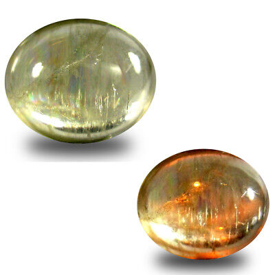 4.40 ct Mind-Boggling Oval Cabochon (11 x 9 mm) Un-Heated Color Change Diaspore