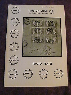 Robson Lowe BURRUS COLLECTION PHOTO PLATES BOOKLET