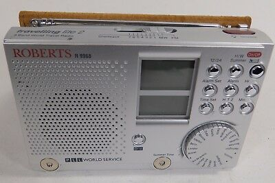 Roberts Travelling Lite 2, Portable 9 Band  World Radio w/ Leather Case R9968