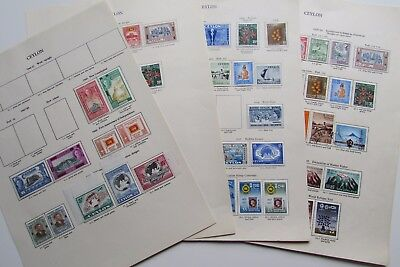 XL3040: Extensive Collection Ceylon Stamps (1947 – 60).