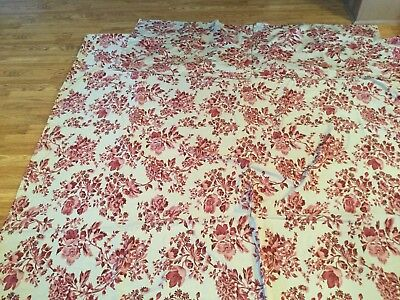 POTTERY BARN COTTAGE FLORAL KING SIZED DUVET COVER (105x80)&2 MATCHING SHAMS
