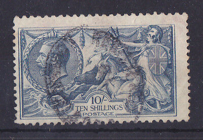 """GREAT BRITAIN 1913-1934 Used KGV """"SEAHORSE"""" 10/- Unchecked"""