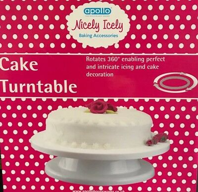CAKE DECORATING TURNTABLE ROTATING 28cm ICING BAKING ACCESSORIES REVLVING BAKE