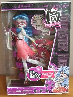 GHOULIA YELPS dawn of the dance DVD ghoul poupée Monster high 2011 Mattel W2148