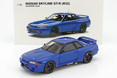 Nissan Skyline GT-R (R32) Plain Body Version blau 1:18 AUTOart