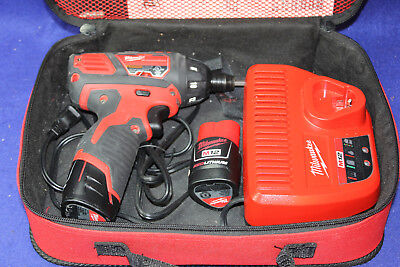 Milwaukee M12 2401-20 Cordless Drill/Driver Kit w/charger, 2 batteries, bag