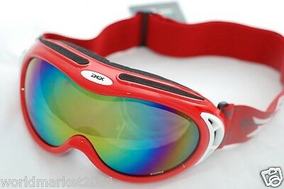 Double-Layer Anti-Fog + Snow Wear Myopia Professional Red Ski Goggles