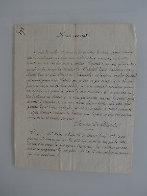 Manuscrit, 1798, bibliophilie, L.AS. au libraire Maradan, Goldsmith, rare doc !
