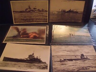 Group Of Naval Postcards