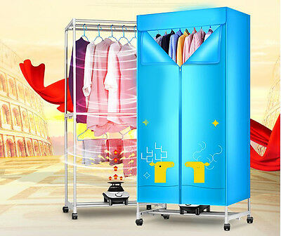 Portable Home Energy-saving Rotary Universal Wheel Electric Air Clothes Dryer