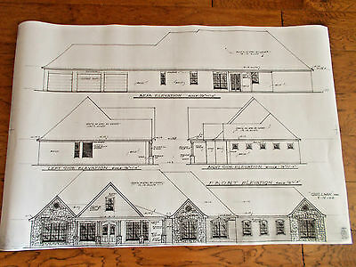 Custom Home Plan 3 Bed 3 Bath Office Work Out Room 1Story 2946 A/C Sq. Ft 4491 T