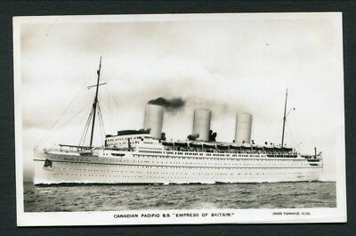 """C1930-5 Canadian Pacific Liner """"empress Of Britain"""" - Photo Postcard"""