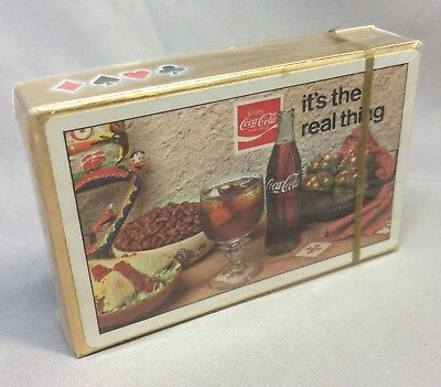 1970s Vintage Original NOS COCA COLA Playing CARDS Soda Advertising REAL THING