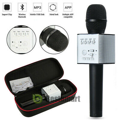 Q9 Wireless Bluetooth Karaoke Microphone USB Speaker Mini Home KTV Player Gold