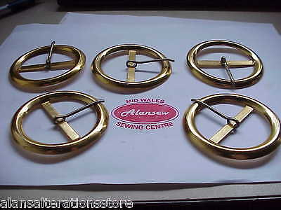 """5 of  2"""" Fashion Gold Effect Fashion Belt Buckles Complete with lockpin"""