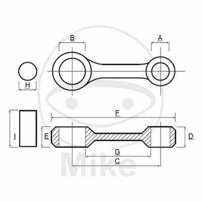 Set Connecting Rod Complete For Crankshaft Prox 756.04.74
