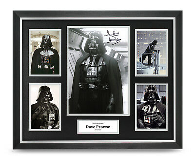 Dave Prowse Signed Photo Large Framed Darth Vader Star Wars Autograph Display
