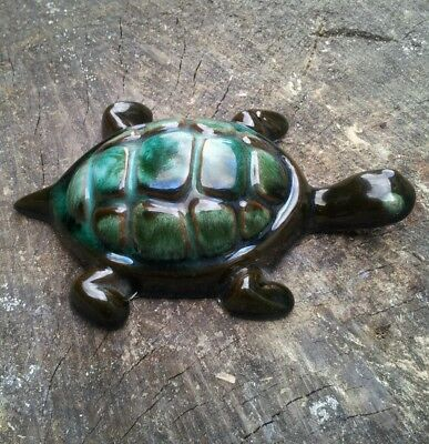 Lovely Canadian Blue Mountain Pottery Tortoise / Turtle,as Pictured
