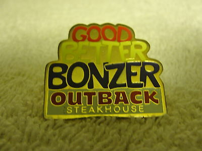 Outback Steakhouse Resturant advertisement collectible advertising pin,pinback