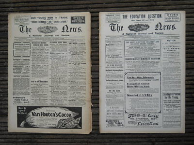 Two Issues  'The News',  A Church Newspaper, Oct & Dec 1906