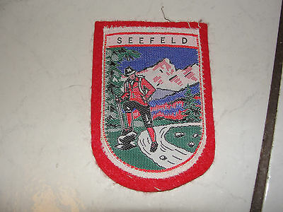 Seefeld,mtn,hiking Old Felt Collectible Travel Souvenir,collectible Patch