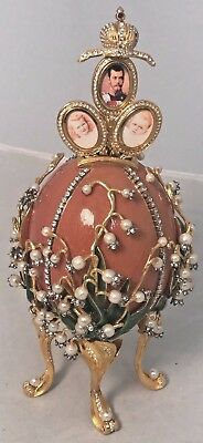Imperial Lily of The Valley Faberge Egg Neiman Marcus Retailed for $4,000!