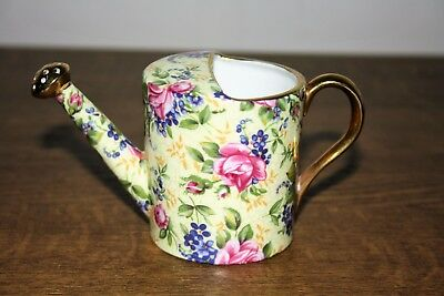 """Very Pretty James Kent(Ruth Kent) """"Chintz"""" English Decorative Small Watering Can"""