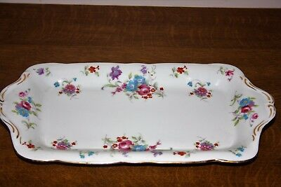 Gorgeous Hammersley Multicoloured Floral Sprays Bone China Sandwich Tray :- 6702