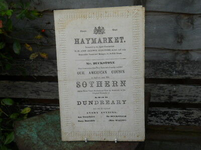 Programme from the Theatre Royal, Haymarket, 1875